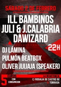 concierto 2 febrero dawizard ill bambinos juli